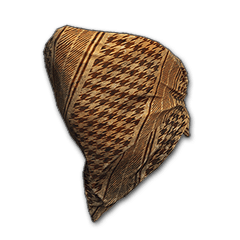 PUBG Houndstooth Cloth Mask (Tan) skin icon