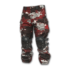 PUBG Camo Snow Pants (Red) skin icon